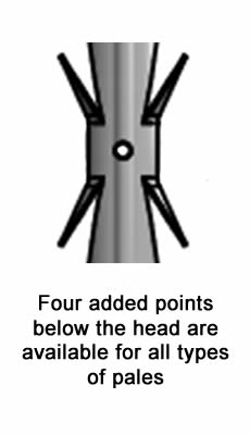 Added four points for higher security are suitable for all types of palisade fence pales.